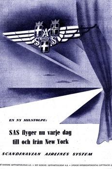 Scandinavian Airline System advert, June 1947.