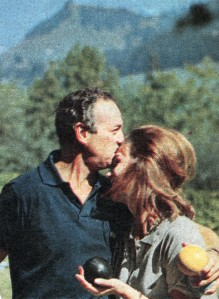 David and Hjördis Niven. Chateau D'Oex, 1961