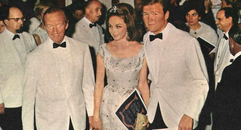 David and Hjördis Niven at a charity ball in Monte Carlo, 1968