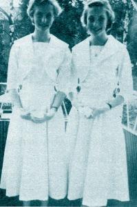 Gudrun and Maj-lis Genberg, aged 15