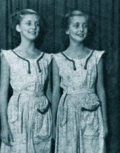 Gudrun and Maj-lis Genberg in 1952.