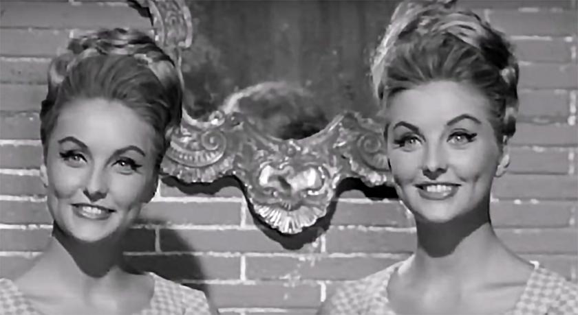 Mia and Pia Genberg in 'Sedotti e Bidonati', 1964.