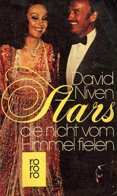 Hjördis and David Niven on a German book cover, 1977